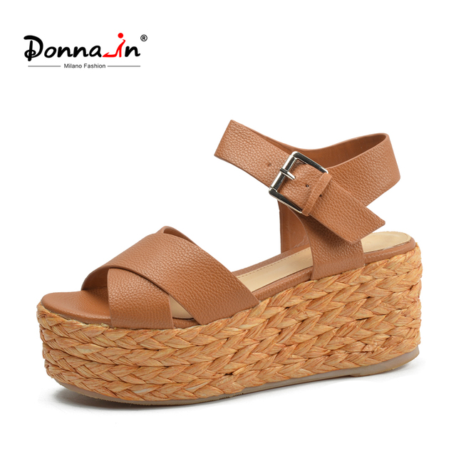 Aliexpress    Buy Donna in 2018 Summer Donna Pelle Pelle Donna Sandalo   bdeae3