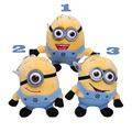 Top quality Despicable Me Minions Plush Toys Doll Minion Keychain Plush Pendant Bob Kevin Stuart 3PCS/Lot 12CM