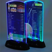 5 шт., акриловый светодиодный светильник с подсветкой, настольный, меню, акриловый, для ресторана, для карт, дисплей, держатель, подставка, высокое качество