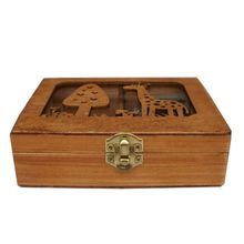 creative hand wood crank music box Elegant Collection home boutique birthday gifts crafts