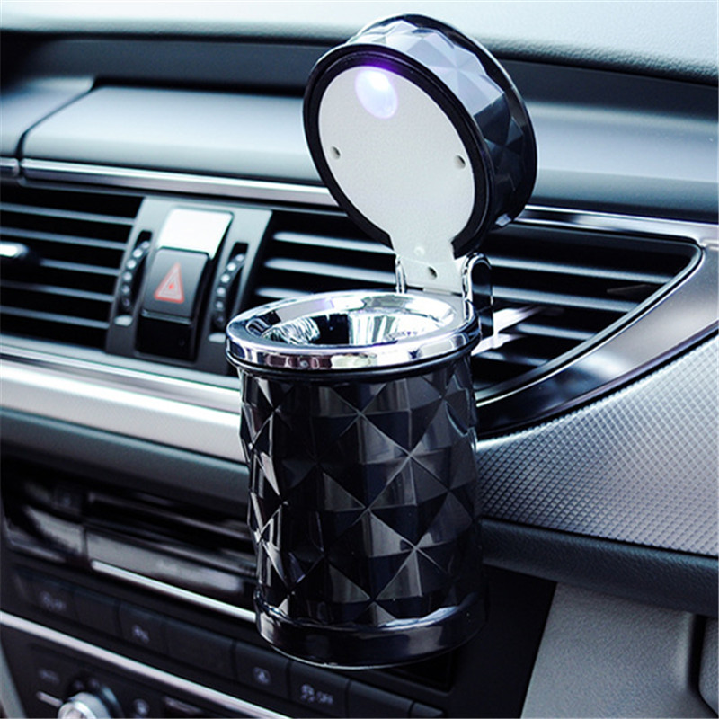 car accessories portable led light car ashtray universal cigarette cylinder holder car styling. Black Bedroom Furniture Sets. Home Design Ideas