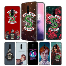 Riverdale South Side Serpents Soft Black Silicone Case Cover for OnePlus 6 6T 7 Pro 5G Ultra-thin TPU Phone Back Protective