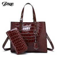 ZMQN Luxury Handbags Women Bags Designer Woman PU Leather Purses And Handbag Set Crossbody Bags For Women Famous Brand Crocodile