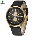 Business Watch Men 2017 Genuine Leather Fashion Casual Wristwatch Top Brand Waterproof Wrist Round Analog Male Quartz Men Watch