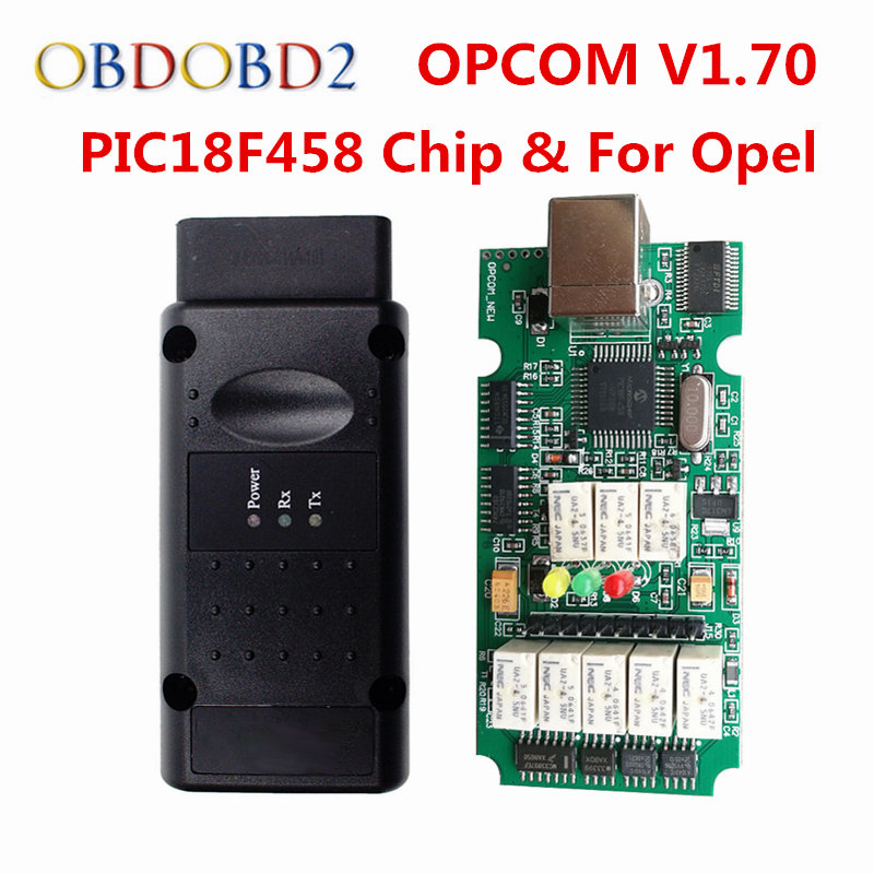 NEW OPCOM V1.70 For Opel OP COM OBD2 Diagnostic Scanner With Real PIC18F458 OP-COM For Opel Diagnostic Tool Flash Firmware op com car vehicle diagnostic tool black
