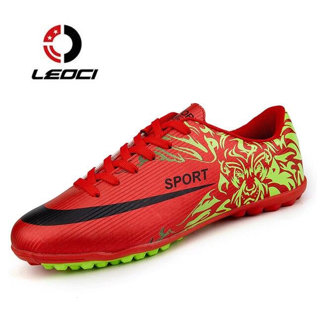 211641b37e423 Leoci Zapatillas de Soccer Futsal deporte Zapatos Niños fútbol Botas césped  entrenamiento masculino sneakers zapatillas deporte