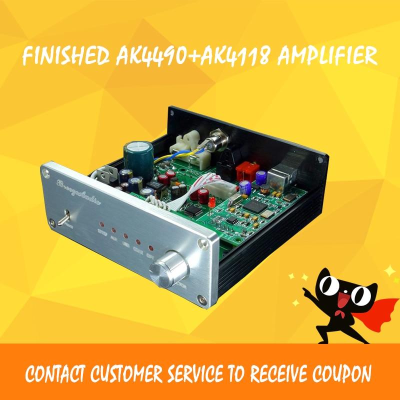 Breeze Audio audio amplifier AK4490+AK4118+XMOS usb dac dsd decoder hifi power amplifier amplificador audio цены