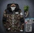 Otoño de Estilo Para Hombre de la Chaqueta Militar de Camuflaje Del Ejército Como Táctico Impermeable Cortavientos Softshell Nylon prendas de Vestir Exteriores 3XL
