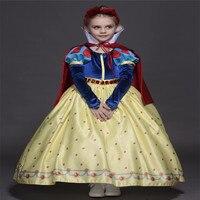 High Quality Kids Princess Sofia Cosplay Dress For Girls Snow White Cosplay Costume Children Christmas