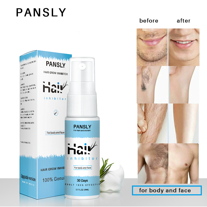 Pansly Hair Growth Removal Inhibitor Serum Oil Spray Beard Bikini Intimate Face Legs Body Armpit Painless Hair Remover