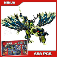 658pcs Ninja Attack of the Morro Dragon Shadow Green Ghost 10400 Model Building Kit Blocks Toys Set Compatible with Lego