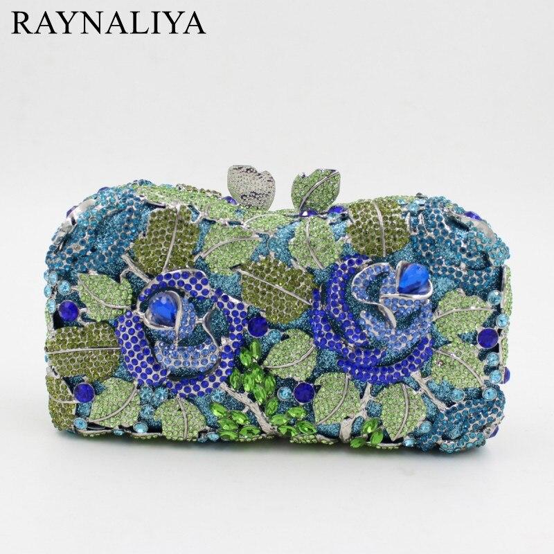 Femmes mode Rose cristal pochette diamant doré sacs de soirée sac à main Minaudiere strass pochette sac à main Smyzh-e0294