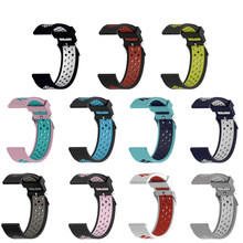 20MM Silicon Wristband Strap For Huami Amazfit Bip Bit GTR 42mm/Samsung Gear Sport Galaxy Watch/For Huawei Watch 2/Weloop band(China)