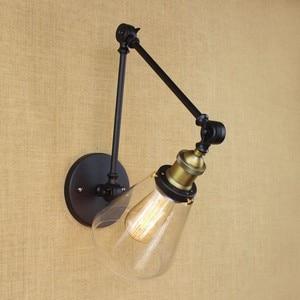 Image 3 - Iwhd Loft Phong Cách Bóng Đèn Edison Led Đèn Chao Đèn Thủy Tinh Đầm Tay Dài Vintage Đèn Tường Sconce Lampara Pared