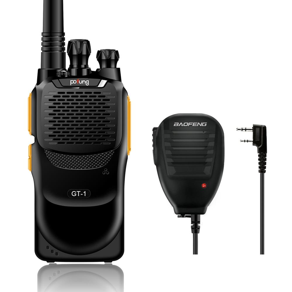 Baofeng pofung GT-1 UHF 400-470MHz 5W 16CH Jamón bidireccional Transmisor de radio portátil 888s Amarillo Altavoz remoto original