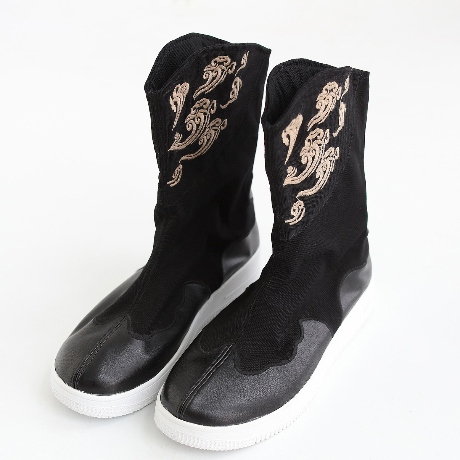 Nuages bottes costumes traditionnels chinois toile broderie hommes bottes creative garder au chaud mâle confortable chaussure bottine