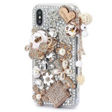 Luxury Crystal Rhinestone Diamond Pumpkin Car Bling Case Cover For iPhone 12 XS XR X XS MAX11 Pro MAX 8 7 Plus 6 6S Plus Coque