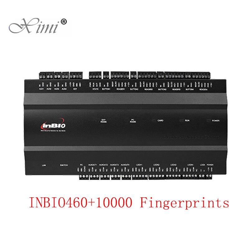 Inbio460 10000 Usuários TCP Sistema De Controle De Acesso Porta Da Impressão Digital ZK 4 Portas Conselho de Controle de Acesso Controlador de Acesso de Quatro Portas