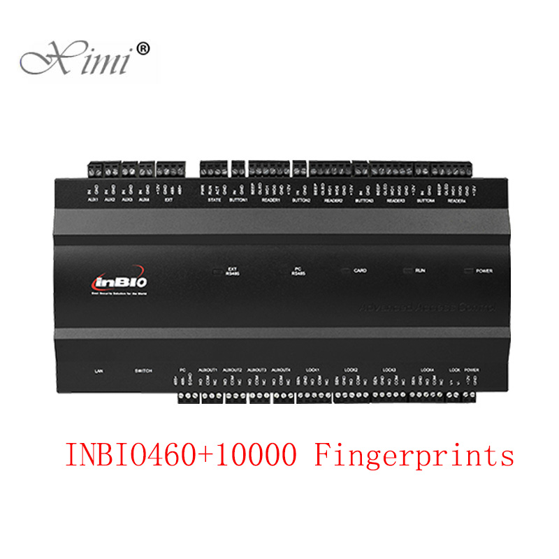 ZK Inbio460 10000 Users Fingerprint Door Access Control System TCP/IP 4 Doors Access Controller Four Doors Access Control Board стоимость