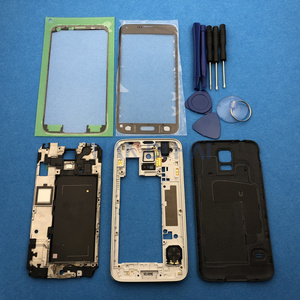 Image 2 - Full Housing Case Cover Replacement Parts For Samsung Galaxy S5 SV G900 I9600 + Outer glass + Sticker + tools