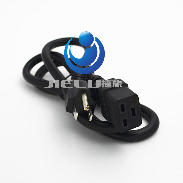 High quality  power cord 5-15P Male Plug to C19 1m,3.3ft,10 pcs/lot c19 c20 power cord server ups power cable c19 female to c20 male power supply cord 3x2 5mm square power wire 1 8m 10 pcs