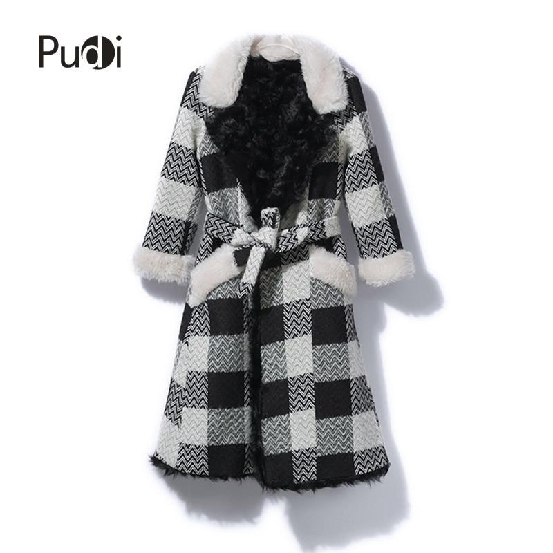 Mode Fourrure Plaid Ct816 Loisirs Fille Manteau Veste Moutons De Nouvelles Réel 2018 Pudi Sur Femmes OHnx8Xffw