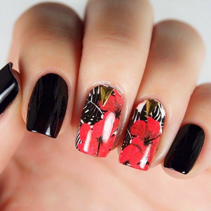 2 Patterns/Sheet BORN PRETTY Red Flower Nail Art Water Decals Transfer Sticker BPY36 born лосины born 13 1005 lпесочный песочный