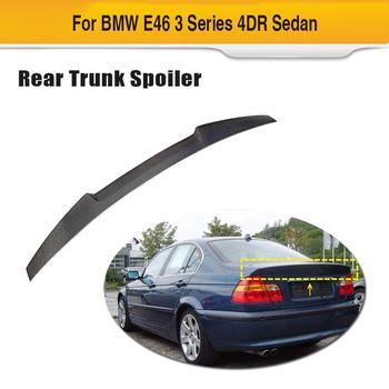 Car Rear Spoiler Ala per BMW 3 Serie E46 Base Coupe 2 Door 1998-2005 In Fibra di Carbonio Adesivo Auto tronco Lip Spoiler