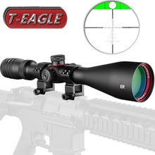 T-Eagle ER 6-24X50 SFIR Hunting Riflescope Side Parallax Glass Etched Reticle Turrets Lock Reset Built-in Bubb Level Rifle Scope