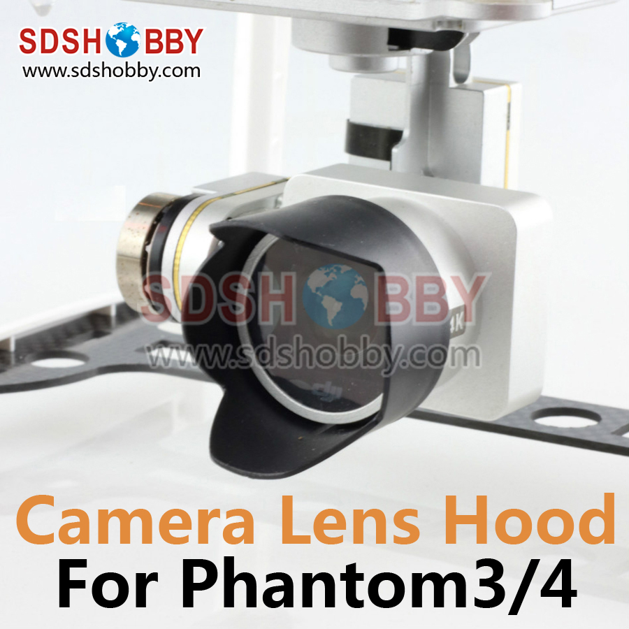 DJI Phantom 4/3 Camera Lens Hood Sunshade Antiglare DJI Phantom 4/3 Accessory Black 1pc