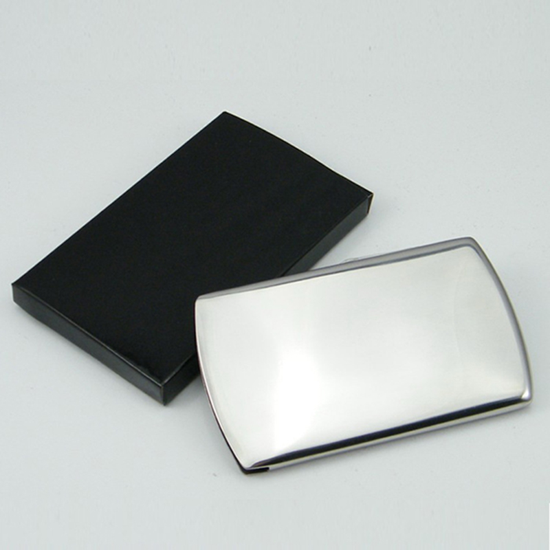 Nice slide business card holder pictures inspiration business card business card holder thumb slide out stainless steel pocket id colourmoves Image collections