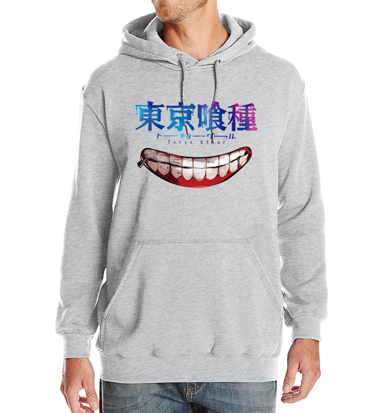 New Hot Sale Mens Hoodies 2017 Spring Winter Sweeatshirts With Hat Pritned Tokyo Ghoul Japan Anime Streetwear Hip Hop Hoody Kpop