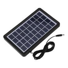 Painel solar de célula solar 9v 3w, poly silicone placa solar 93% transmissão de luz à prova d água painel solar acessórios para carregador de energia