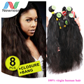 Newest Products Brazilian Unprocessed Virgin Hair Natural Wave 100% Guaranteed Cheap Human Hair Weave Extension 8pcs in 1 pack