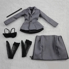 1/6 Scale Womens Female Grey Business Office lady Pencil Skirt Set for 12woman Action Figure Toys