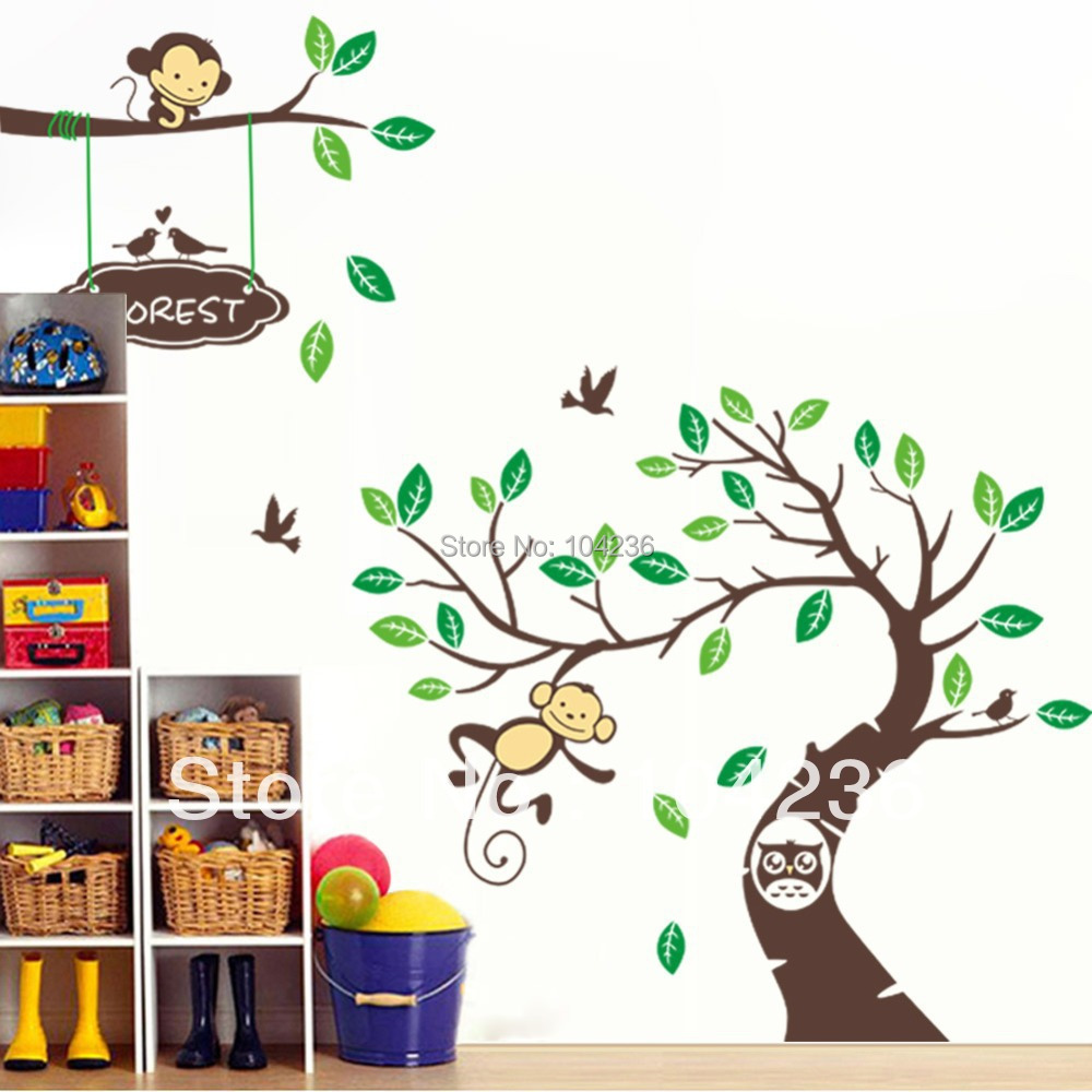 monkey wall decor shenra com online shop free shipping monkey wall stickers zooyoo1207 original