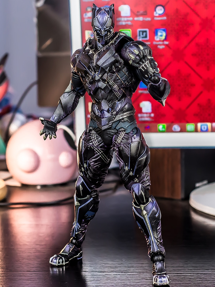 New Super Hero Black Panther Movie Square Enix Play Arts Kai Marvel Universe 11inch Action Figure Statue Toys цены