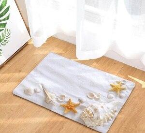 Image 2 - CAMMITEVER alfombra de Estilo de vacaciones con diseño de Estrella del Mar, felpudo antideslizante para decoración de Puerta del hogar, para sala de estar