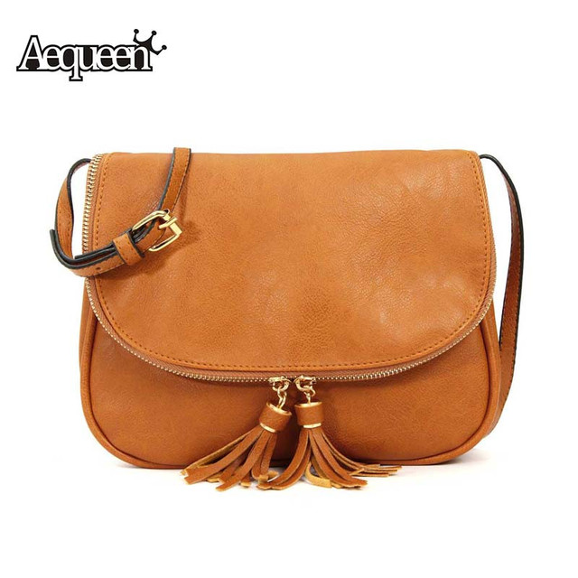 AEQUEEN Women Bags Tassel Shoulder bags Ladies Messenger Small Leather Handbags Bags For Woman Bolsas Femininas