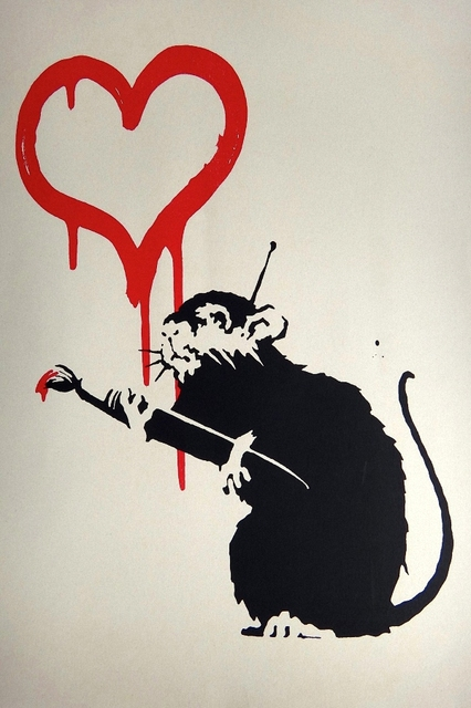 diy frame mouse rat drawing love fantasy abstract artwork poster