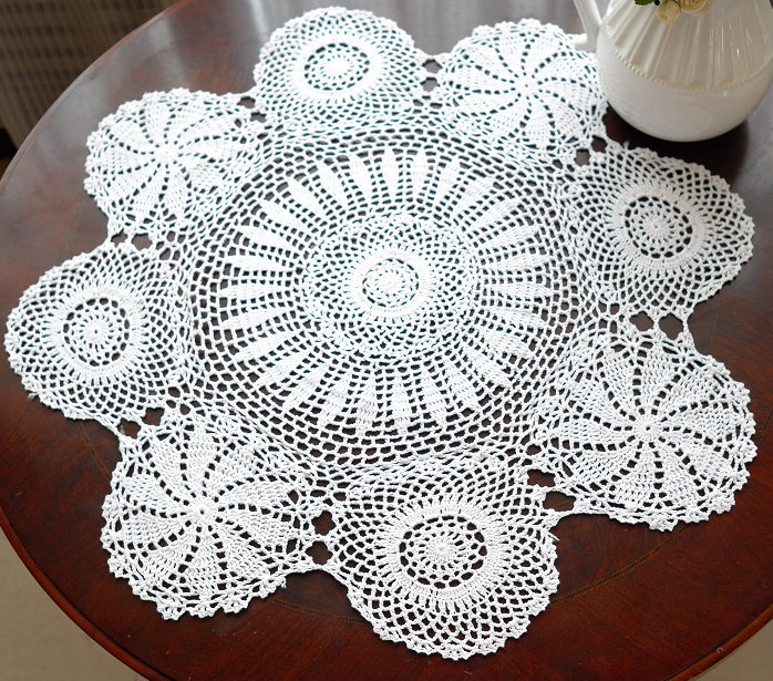 Vintage Handmade White Crochet Tablecloth Round Table Topper Coffee Tea Table  Cloth Cover/toalha De Mesa In Tablecloths From Home U0026 Garden On  Aliexpress.com ...