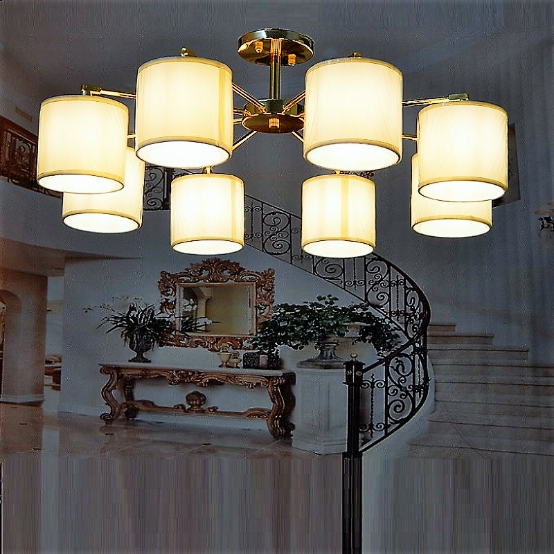 Modern LED Chandelier lights living room bedroom LED Include luminaria de teto modern Chandelier Lighting Fixtures Led Hanging new luxury modern crystal chandeliers led living room chandelier lighting fixtures gold plated hanging lights with glass shade