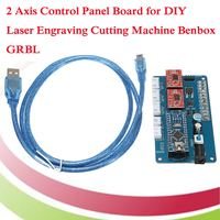 USB 2 Axis Stepper Motor Driver Board Control Panel Board 12V for CNC DIY Desktop Laser Engraving Cutting Machine GRBL + Cable