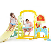 Baby Game Swing Slide Multifunction Combination Indoor Cartoon Swings Children Fun Play Device Set Kids Basketball rocking chair