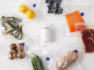Image 2 - REELANX портативный вакуумный упаковщик машина с 5 или 10 вакуумными мешками на молнии портативный мини вакуумный насос для Sous Vide Precision Cooker