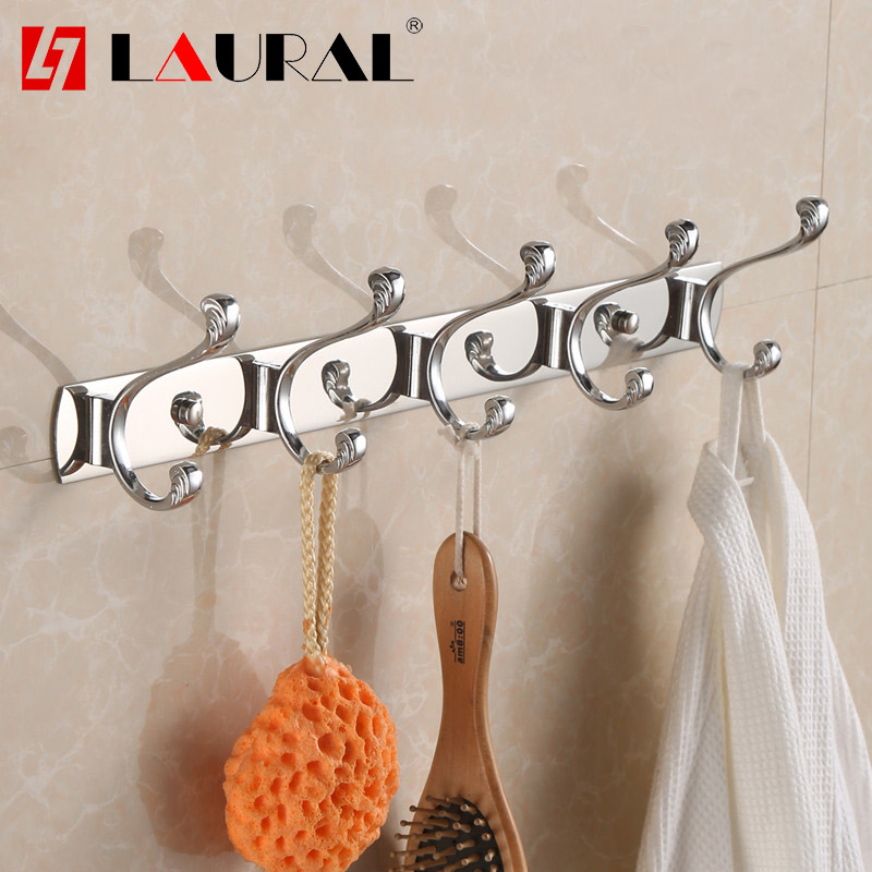 Stainless Steel Clothes Wall High  Hook Clothes Cap Clothes Hook Kitchen Chrome Modern High Fashion Wall Hook Row