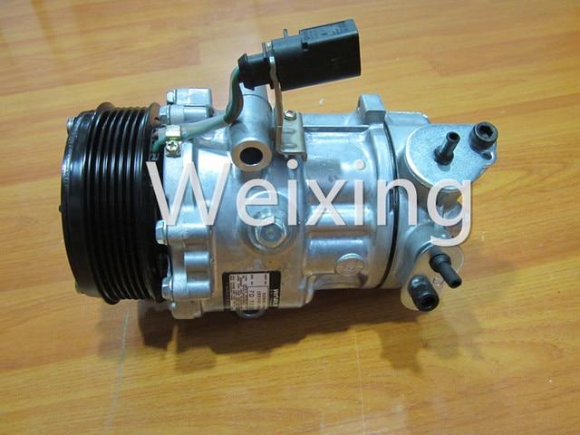 Auto AC Compressor 6V12 SD6V12 SD1916 Clutch Pulley for Volkswagen VW Polo Derby Vento Skoda Fabia New Model 2011 6R0820803A