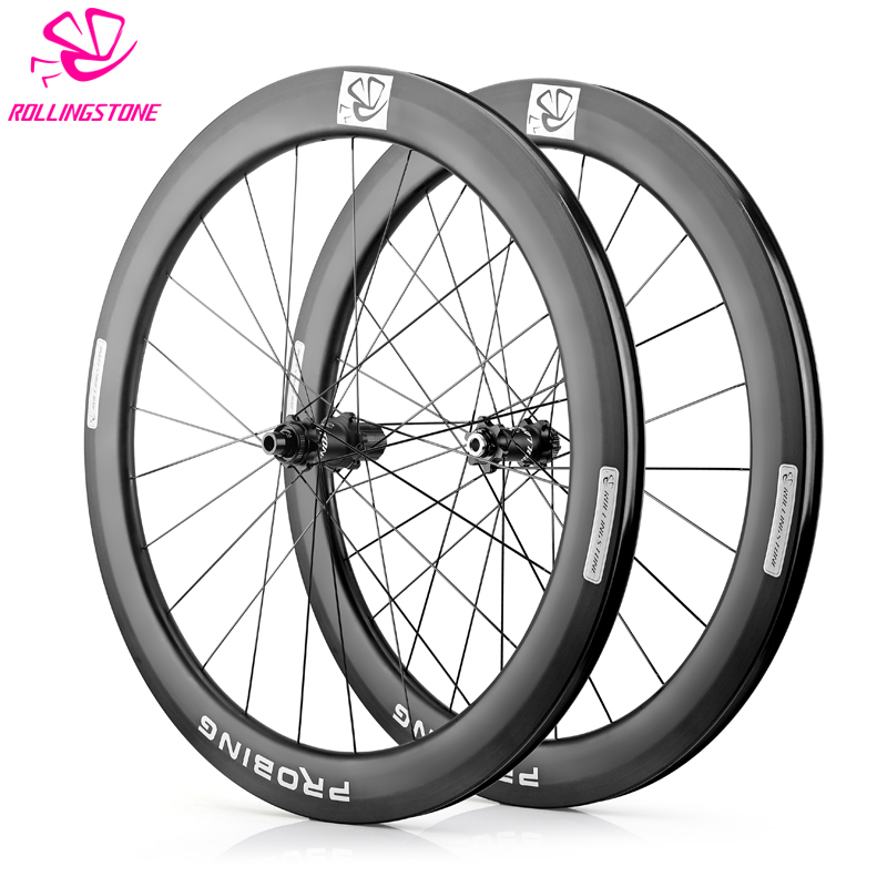 700c Disc Wheelset >> Us 845 0 New Rolling Stone Probing Road Disc Wheelset Carbon 700c Disc Wheelset 58mm Clincher In Bicycle Wheel From Sports Entertainment On