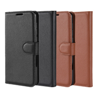 pu leather Mobile Phone Case Flip PU Leather All-round Dustproof Phone Case Card Storage With Bracket for Samsung A20e (3)