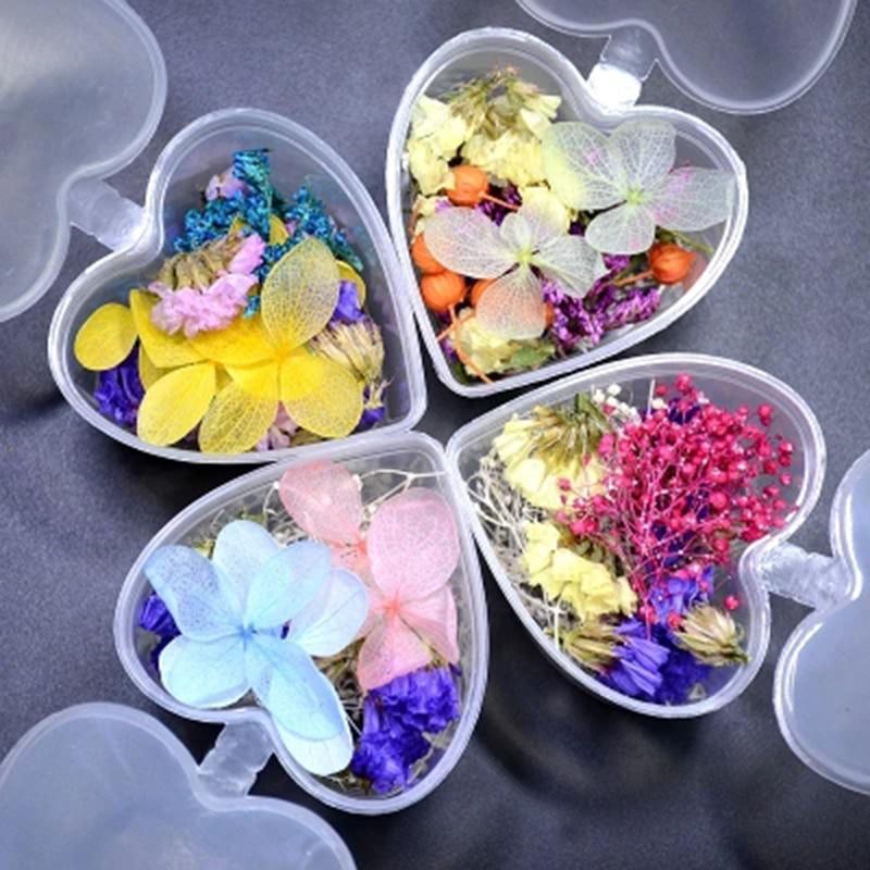 1 Box Mixed Dried Flowers Nail Art DIY Gs